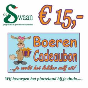 Boeren Cadeaubonnen 15 - Een Cadeaubon is het ideale kerstpakket voor elke medewerker - Bestel een BoerenCadeaubon- www.KerstpakkettenCadeaubon.nl
