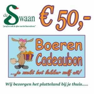 Boeren Cadeaubonnen 50 - Een Cadeaubon is het ideale kerstpakket voor elke medewerker - Bestel bij BoerenCadeaubon- www.KerstpakkettenCadeaubon.nl