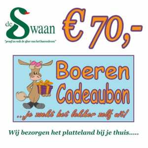 Boeren Cadeaubonnen 70 - Een Cadeaubon is het ideale kerstpakket voor elke medewerker - Bestel bij BoerenCadeaubon- www.KerstpakkettenCadeaubon.nl