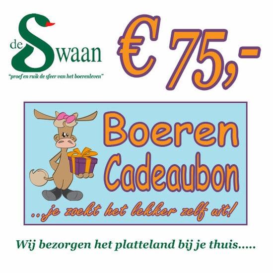 Boeren Cadeaubonnen 75 - Een Cadeaubon is het ideale kerstpakket voor elke medewerker - Bestel bij BoerenCadeaubon- www.KerstpakkettenCadeaubon.nl