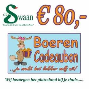 BoerenCadeaubon 80 – Kerstpakket Cadeaubon zelf je kado uitzoeken