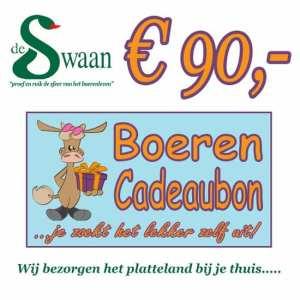 Boeren Cadeaubonnen 90 - Een Cadeaubon is het ideale kerstpakket voor elke medewerker - Bestel bij BoerenCadeaubon- www.KerstpakkettenCadeaubon.nl