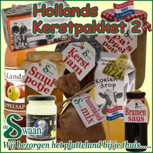 Hollands kerstpakket 2 - streek kerstpakket gevuld met huisgemaakte streekproducten - www.kerstpakkettencadeaubon.nl