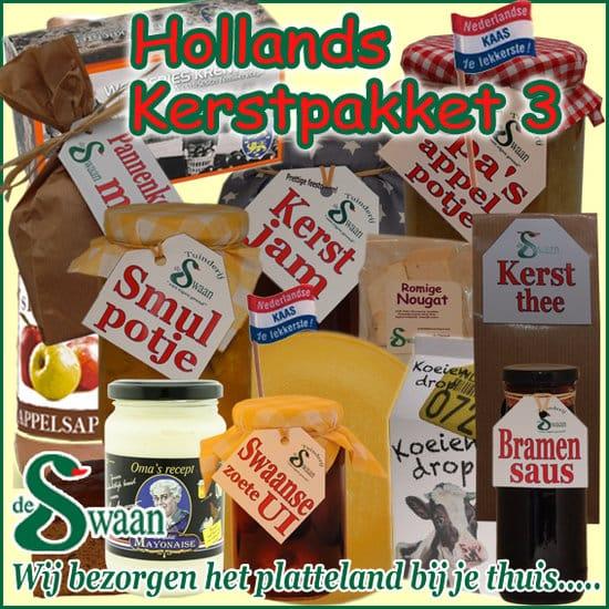 Hollands kerstpakket 3 - streek kerstpakket gevuld met huisgemaakte streekproducten - www.kerstpakkettencadeaubon.nl
