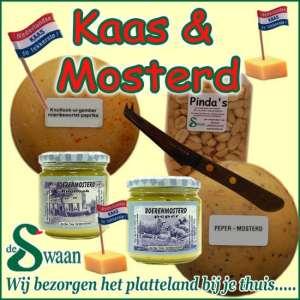 Kaas & Mosterd kerstpakket - streek kerstpakket gevuld met streekproducten van kaas - www.kerstpakkettencadeaubon.nl