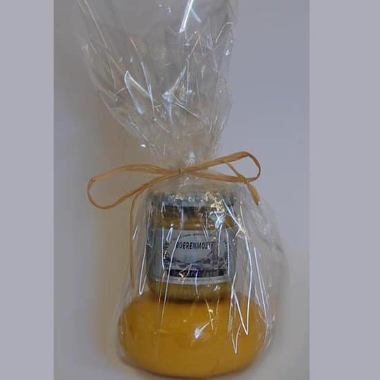 Kaasje met mosterd in Cadeaufolie