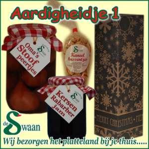 Relatiegeschenk Aardigheidje 1 - streek kerstpakket gevuld met huisgemaakte streekproducten - www.kerstpakkettencadeaubon.nl