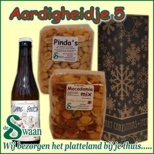 Relatiegeschenk Aardigheidje 5 - streek kerstpakket gevuld met huisgemaakte streekproducten - www.kerstpakkettencadeaubon.nl