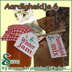 Relatiegeschenk Aardigheidje 6 - streek kerstpakket gevuld met huisgemaakte streekproducten - www.kerstpakkettencadeaubon.nl