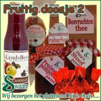 Kerstpakket thema puur natuur Fruitig doosje 2 - streek kerstpakket gevuld met huisgemaakte streekproducten - www.kerstpakkettencadeaubon.nl