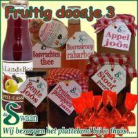 Kerstpakket puur natuur Fruitig doosje 3 - streek kerstpakket gevuld met huisgemaakte streekproducten - www.kerstpakkettencadeaubon.nl