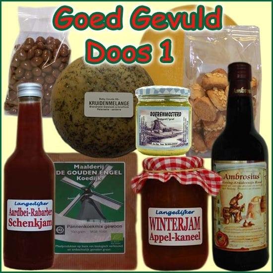 Kerstpakket Goed Gevuld 1 - Streekpakket goed gevuld is samengesteld met eerlijke lokale streekproducten - Streekproducten Specialist - www.kerstpakkettencadeaubon.nl