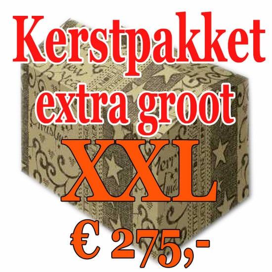 Kerstpakket Verrassing extra groot - 275 - Kerstpakket XXL is een zeer royaal Kerstpakket extra groot - www.kerstpakkettencadeaubon.nl