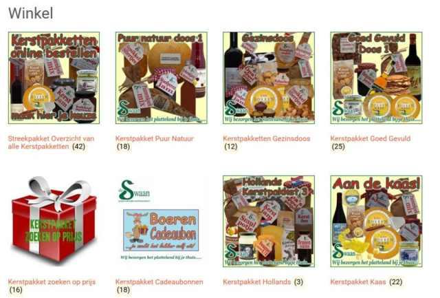 Kerstpakketten Cadeaubon - Kerstpakket gevuld met unieke streekproducten - www.KerstpakkettenCadeaubon.nl