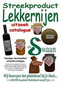 Eigen keuze kerstpakket -Streekproducten lekkernijen kerstfolder - lekker zelf je favoriete streekproducten uitzoeken - www.kerstpakkettencadeaubon.nl