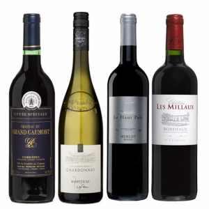 Wijnpakket Rondje Frankrijk 4 - Wijngeschenk Specialist - Wijngeschenk gevuld met luxe wijnen uit Frankrijk - Kerstpakket wijn - www.kerstpakkettencadeaubon.nl