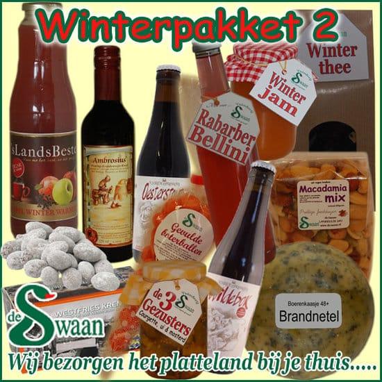 Winter kerstpakket 2 - Luxe winter streek Kerstpakketten bestellen - www.KerstpakkettenCadeaubon.nl