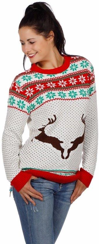 Kersttrui V En D.Dames Kersttrui Two Deer Wit Kersttruienkopen Nl