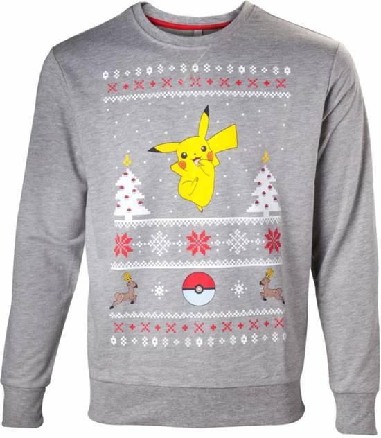Uniseks Kersttrui.Uniseks Kersttrui Pikachu Grijs Kersttruienkopen Nl