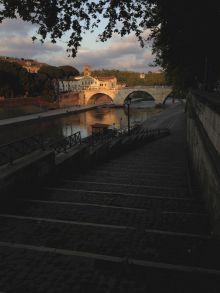 Fiume Tevere Roma Italia