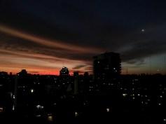 Light Blue, Orange and Gray Sunset