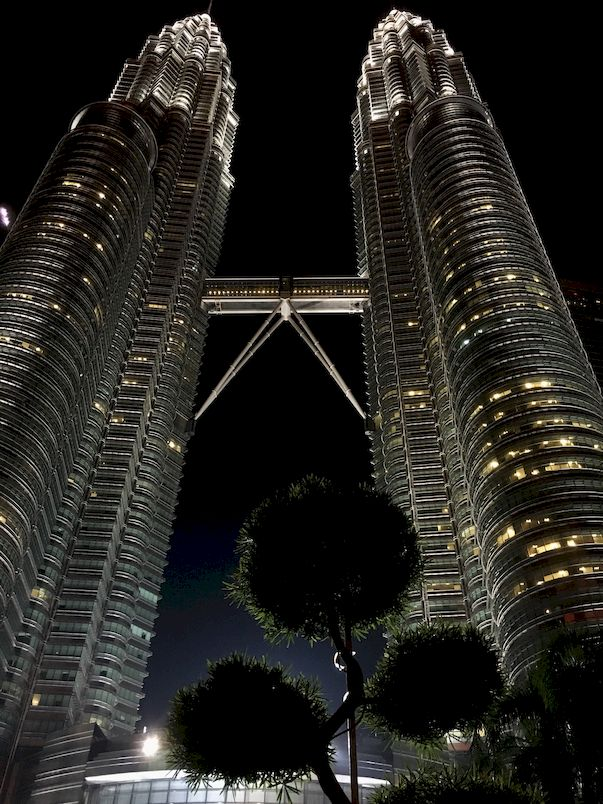 The Petronas Towers, also known as the Petronas Twin Towers, are twin skyscrapers in Kuala Lumpur, Malaysia