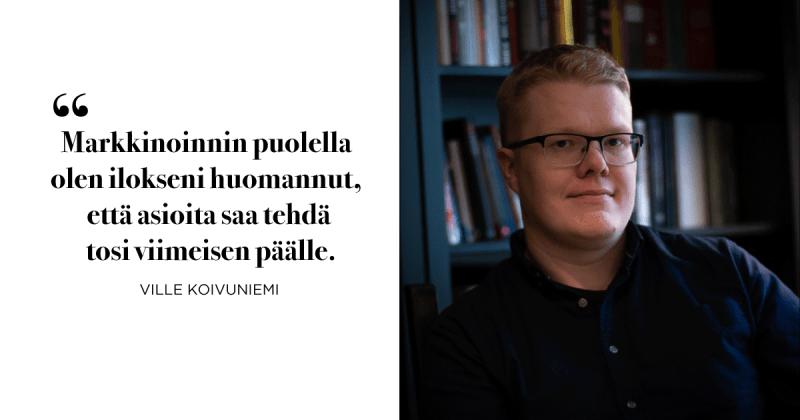 Copywriter Ville Koivuniemi