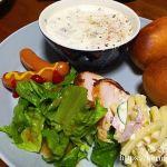 夕飯LOG 20171124 野菜とベーコンのスープのワンプレート