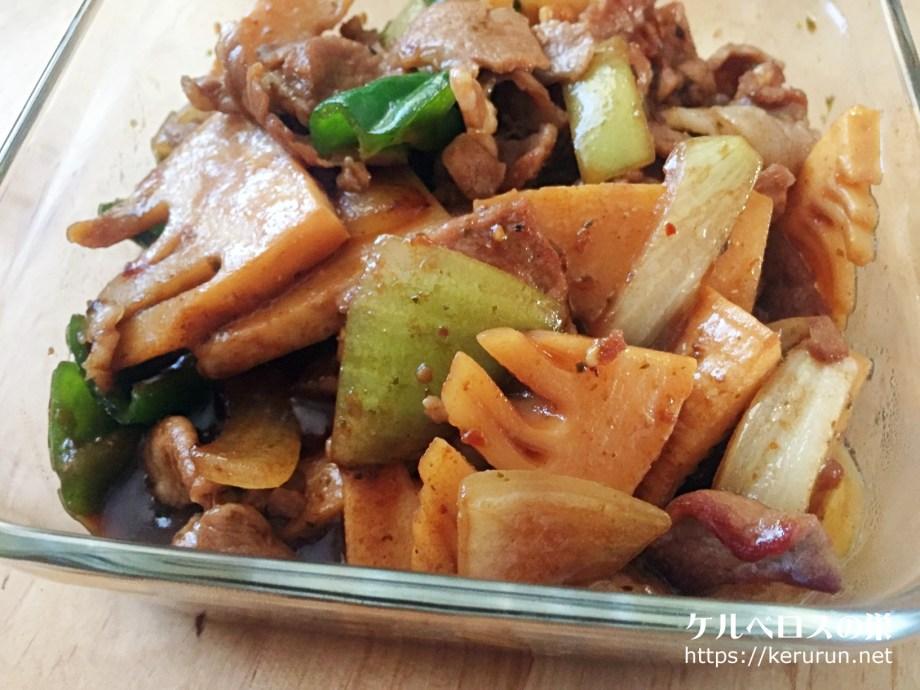 豚肉と筍の山椒炒め