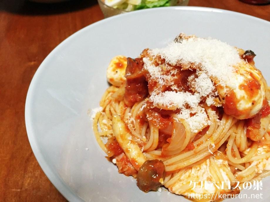 【コストコクッキング】ベーコンとモッツァレラチーズのトマトパスタ