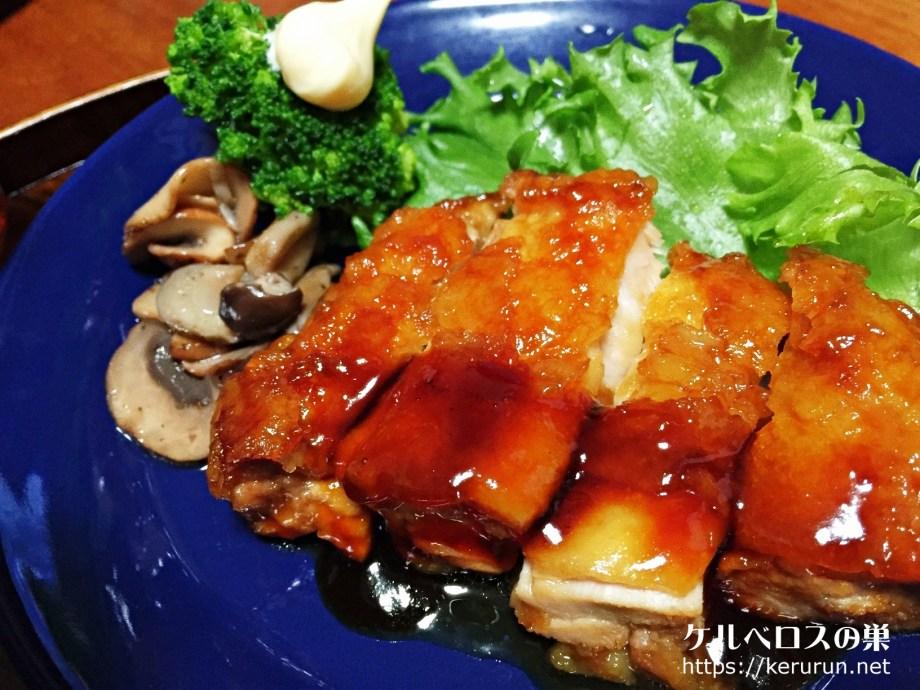 【一汁一菜】絹揚げと大根と大根の葉の味噌汁&鶏もも肉の照り焼き