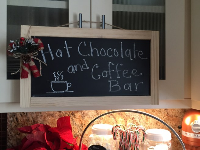 hot chocolate and coffee bar