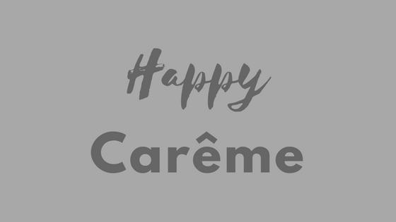 Carême 2018, top chrono … C'est parti! #57