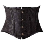 Camelias Steel Boned Fashion Corset|Short Torso