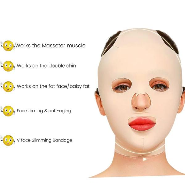 The 360 degrees V face contouring wrap-around mask