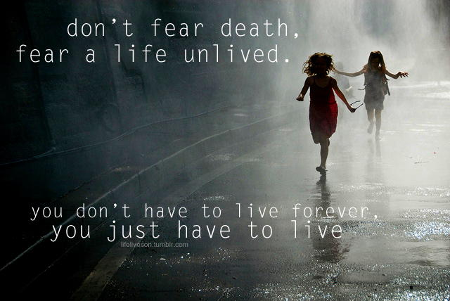 Don't fear Death. Complete a end of life plan and face your fears