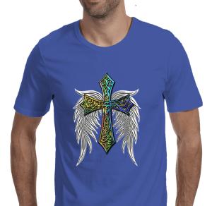 Wings of A Prayer Men's Royal Blue T-shirt