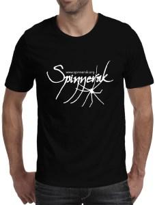 Spinnerak Men's Black T-shirt Front