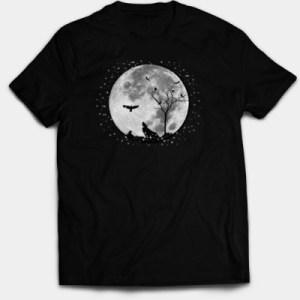 Raven, Wolf & the Moon Tee-shirt