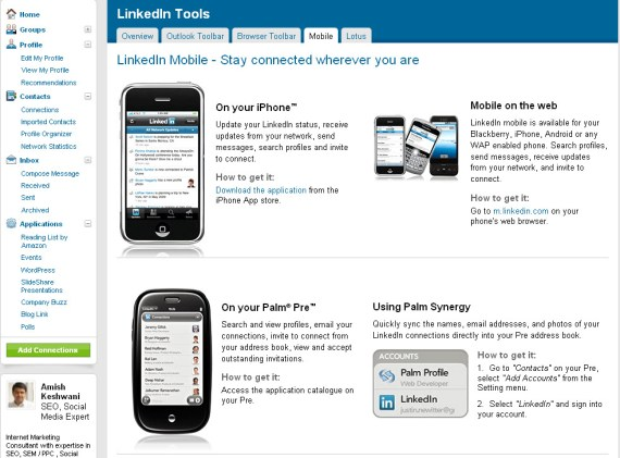 Linkedin is now on iPhone