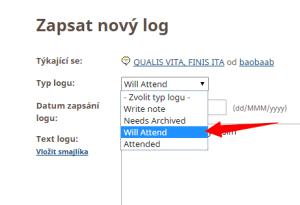 Další možné typy logů, které můžeš poslat