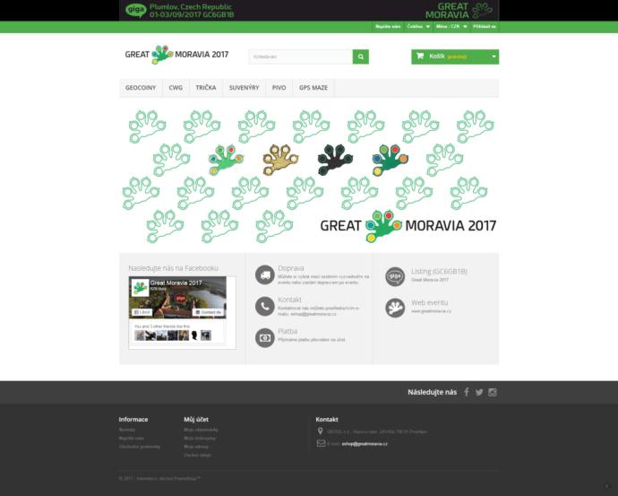 Eventový e-shop eshop.greatmoravia.cz