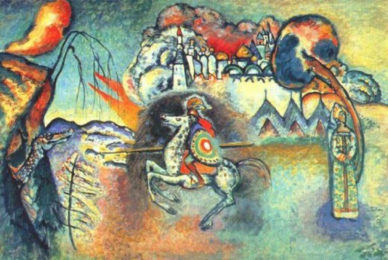 Kandinsky, Saint Georges contre le dragon.