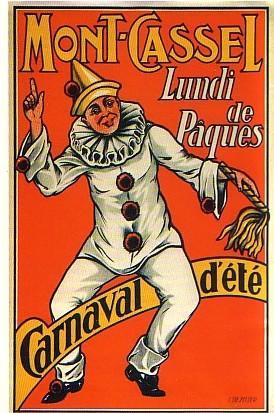Affiche ancienne pour le Carnaval d'été de Cassel