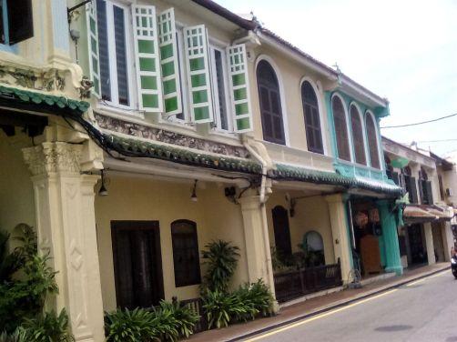 maison architecture coloniale melaka malaisie