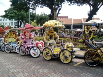 velo rickshaw melaka malaisie