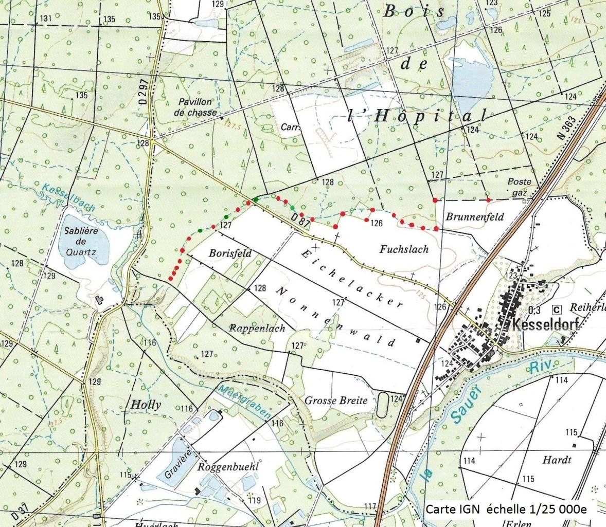 Ancien plan de Kesseldorf