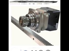 Gear Rack And Pinion For Sliding Gate Latch