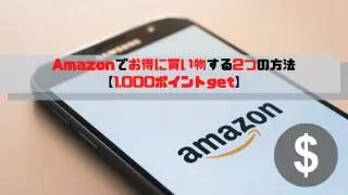 Amazonでお得に買い物する2つの方法 【1,000ポイントget】