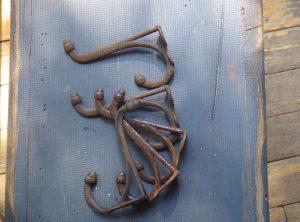 Antique Hardware – 5 Double Acorn Coat Hooks